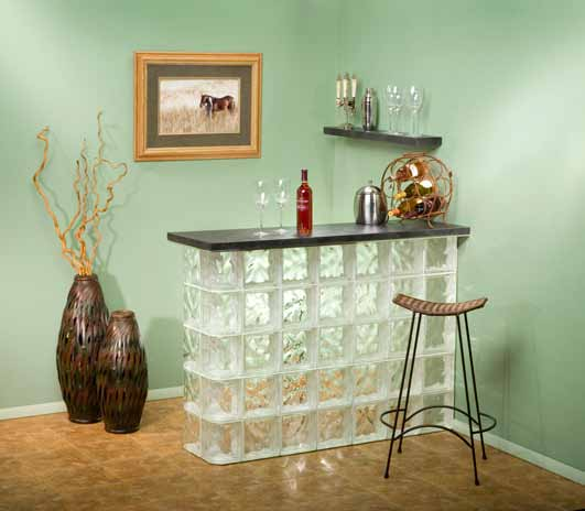 Home Bar Room: Summer's Arrival Creates Great DIY Glass Block Project