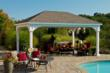 Vinyl Pavilion perfect for a poolside shade structure.