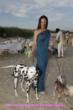 Lisa Hartman and her dogs on the set for TAFF TV