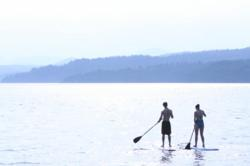 Paddleboarding on Lake Champlain