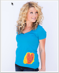 Paper Clouds Apparel Women's Deep V - Proceeds go to KFM Making A Difference