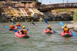 Whitewater kayaking in Pagosa Springs.