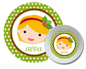 Holiday Personalized Dish Set