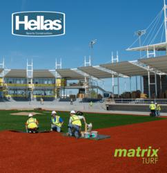Hellas Construction's turf installation begins at Portland's first professional baseball park