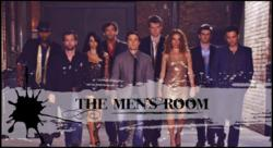 "The cast of ""The Men's Room:"" T'Shaun Barrett, Sitara Falcon, Marta McGonagle, Bruce Wexler, Robert Belushi, Scott Beehner, Jo Newman, Cooper Barnes, Mark Gagliardi."