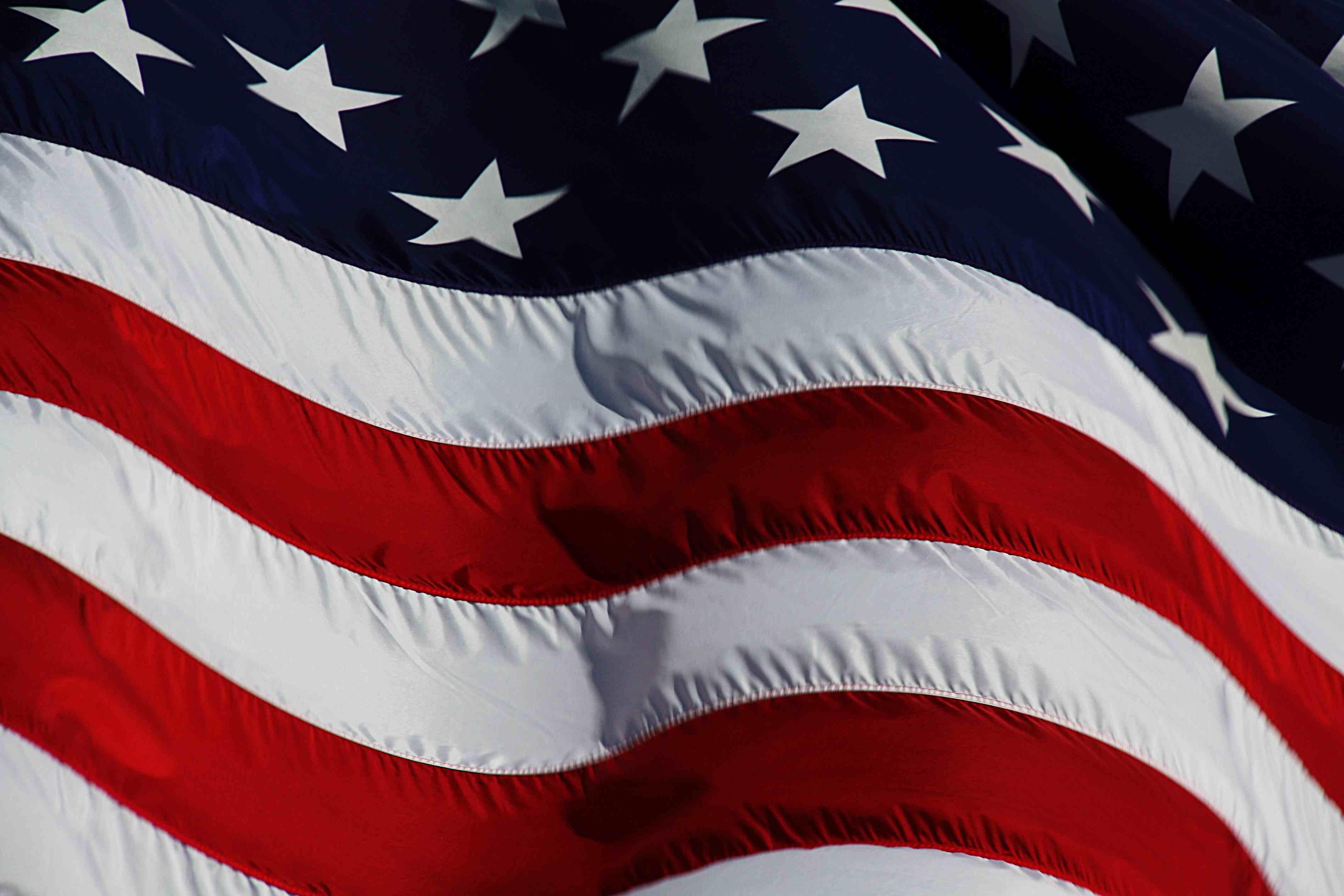 american flag drape