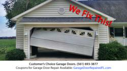 Customer's Choice is making Garage Door Repair in Stuart More Affordable with Coupons for Hurricane Season