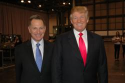 Photo of Donald J. Trump (right) and William Zanker (left)