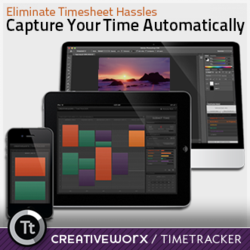 Automatic time capture for creative professionals