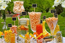 Summer Orange and Yellow Candy Buffet