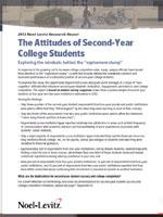 Report on Second-Year College Student Attitudes
