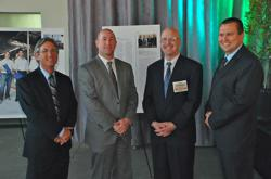 Left To Right: Rich Bluth, Irvine Co. Vice President Energy Management, Erron Williams, Irvine Co. Sr Director Engineering, Scot Duncan, Enerliance CEO, Tom Boyer, Irvine Co. Director Engineering