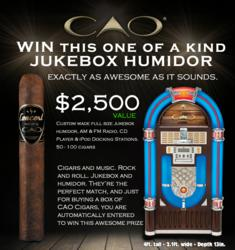 Mike's Cigars is a designated retailer for the CAO Concert Jukebox Giveaway