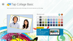 Personalize photos with the Tap Collage Basic Windows 8 app with handwriting.