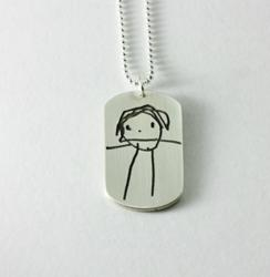 Child's Artwork Pendant by Metalmorphis Jewelry
