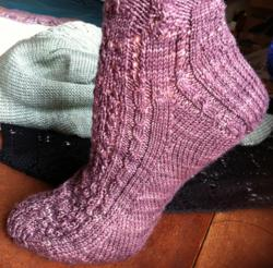Sock with Welsh Heel from What (else) Would Madame Defarge Knit?