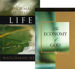 "Two-book set of ""The Normal Christian Life"" and ""The Economy of God"""