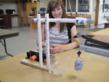 Crane assembled by student Lauren Mathias in demonstration at Del Oro High School