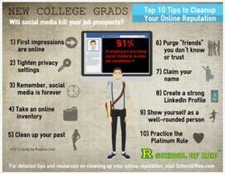 INFOGRAPHIC: 10 Tips for College Grad Reputation Management