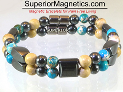 Magnetic Bracelet with Picture and Imperial Jasper