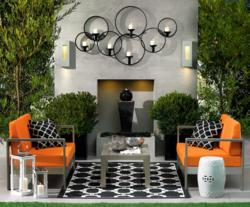 Outdoor Living Spaces Use Lighting and Furniture