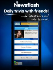 Newsflash is a daily trivia game you play with friends to get the latest news and entertainment stories.