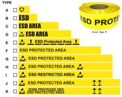 Industrial ESD Floor Tape
