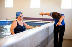 Endless Pool triathlon training provides swim training stroke analysis and instant feedback.