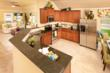 Travertine Kitchen at Liberty Hill in Temple