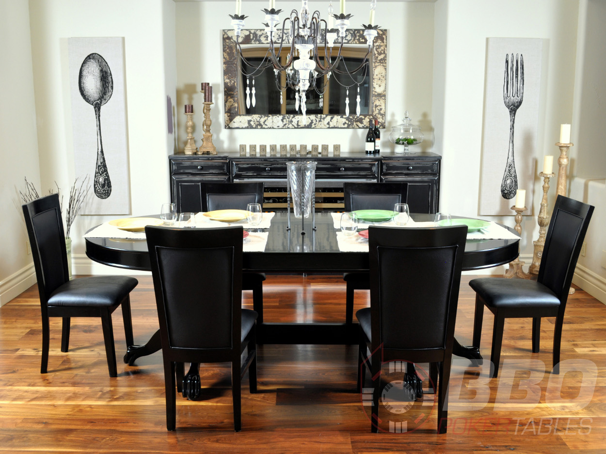 100 Helmsley Poker Dining Table Black | Helmsley Poker