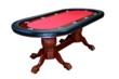 Red Poker Table