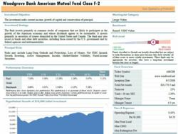 A sample investment fact sheet from Windward