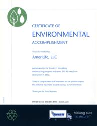AmeriLife Recognized by Shred-It