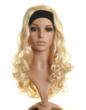New light blonde curly half wig hairpiece