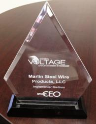 "Marlin Steel was named top medium-sized ""Technology Implementer"" in the 2013 VOLTAGE awards for Greater Baltimore"