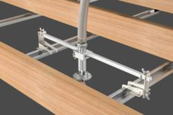 VicFlex™ Style AB4 Bracket for Hat Furring Channel Hard-Lid Ceilings