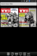 Back issues of AMERICA IN WWII magazine ready for download on a Kindle Fire screen.