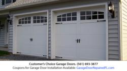 Garage Door Installation in Stuart FL Discounted by Customer's Choice Garage Doors