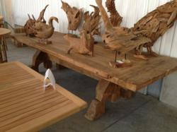 chic teak supplies large medieval styled dining table to gastro pub chic teak furniture