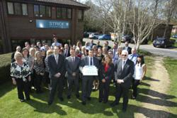 Stride Group staff celebrate the 40th anniversary of the business