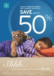 Save up to 50% during the Sweet Dreams promotion.