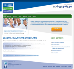 Coastal Healthcare Consulting's New, Client-Centric Website