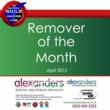 Alexanders Remover of the Month