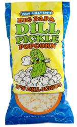 Van Holten's 2.2 oz bag of Dill Pickle Popcorn