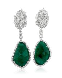 Vintage-inspired emerald earrings are part of Yael Designs' Fall 2013 Serendipity Collection