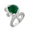 Emerald and diamond cocktail ring set in 18kt white gold from Serendipity Collection