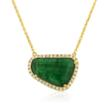Emerald pendant set in 18kt white and yellow gold from Serendipity Collection