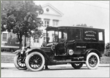 The hospital's first ambulance, a Locomobile, seen here in front of the Founder's Building, was donated by George D. Widener, Jr., a charter trustee, in 1914.