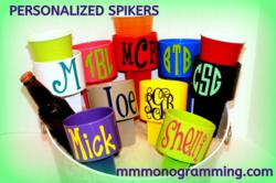 Monogrammed Spikers - America's hottest summer item!