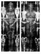 The full length positive image of the man in the Shroud as revealed by photography ©1978 by Vernon Miller